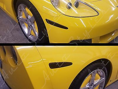2005-2013 Chevy Corvette C6 Smoked Side Markers Tint Overlay Complete Kit 4 pcs