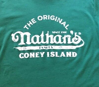 New Nathan's Famous Hot Dogs Coney Island  XL T Shirt  Sunglasses & Back Pack