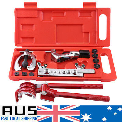 Air Line Double Flare Flaring Tool Kit Set Tube Brake Cutter Pipe +3 in 1 Bender