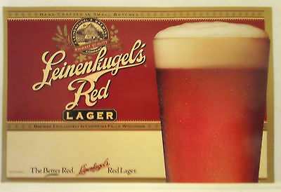 Paper Beer Poster - Leinenkugel's Red Lager Brewing Company, Chippewa Falls, WI
