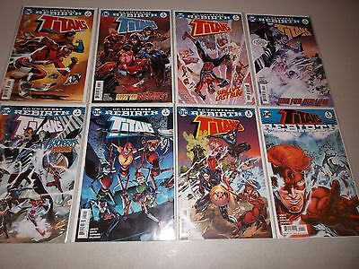 Titans #1-7  + Rebirth #1 (2016 DC Comics) Lot set run  1 2 3 4 5 6 Teen Titans