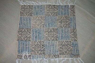 Indian Table Cover Lunch Mate Jute 2'x2' Print Rugs Carpet 2