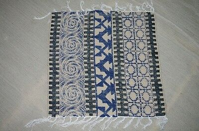 Indian Table Cover Lunch Mate Jute 2'x2' Print Rugs Carpet 5