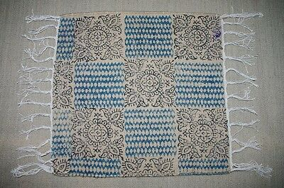 Indian Print Jute Small Pad Rugs Durry Carpet 1