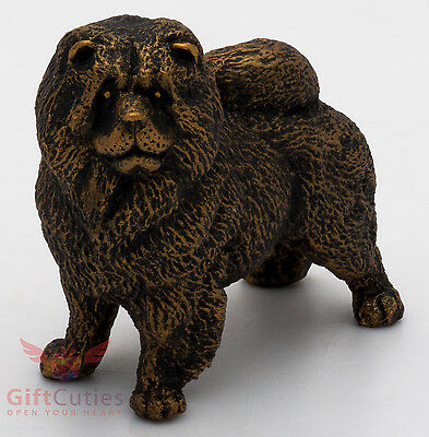 Tin Pewter Figurine of Chow Chow Dog IronWork