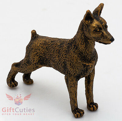 Tin Pewter Figurine of Miniature Pinscher Dog IronWork