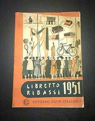 libretto ribassi TOURING CLUB ITALIANO  1951