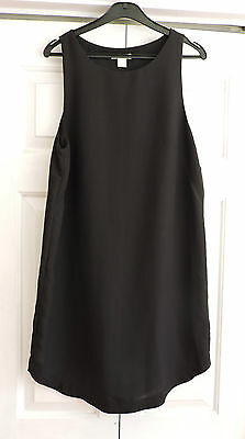 H&M black crepe shift dress - size 12-14