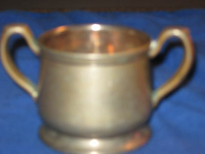 Albert Pick Co. Inc. Nickle Silver Silver Soldered Open Sugar bowl