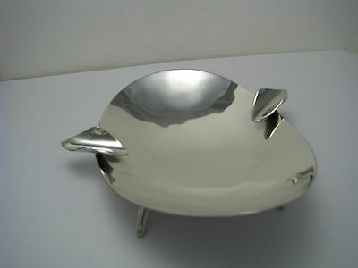 MID-CENTURY MODERN STERLING SILVER ASHTRAY TRAY PLATE by P.Lopez G Mexico c1950s