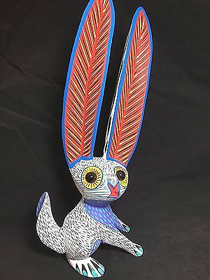 Fabulous Hand-Painted Rabbit Alebrije - Wood Carving  -Oaxaca, Mexico