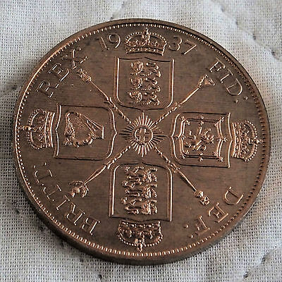 1937 George Vi Copper Proof Pattern Double Florin