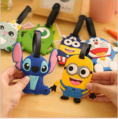 17 Styles Cartoon Silicone Travel Suitcase Baggage Luggage Tags