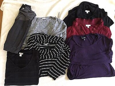 Pea in the Pod Maternity Lot Casual Wear To Work Knit Tops Leggings Medium Large