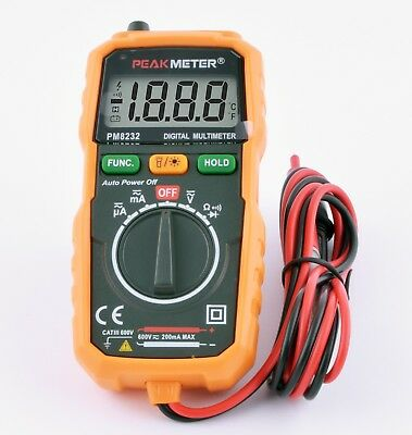 PM8232 Peakmeter Mini Digital Multimeter Auto-ranging NCV Lichtquelle robust