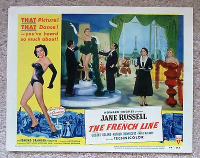 French Line Original 1954 Lc #7 11X14 Jane Russell Nm