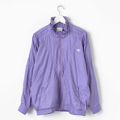 Vintage ADIDAS Shell Suit Jacket in Purple Size L Large Old School Tracksuit Top