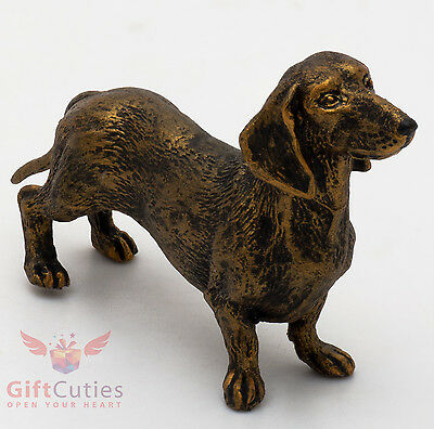 Tin Pewter Figurine of Dachshund Dog IronWork