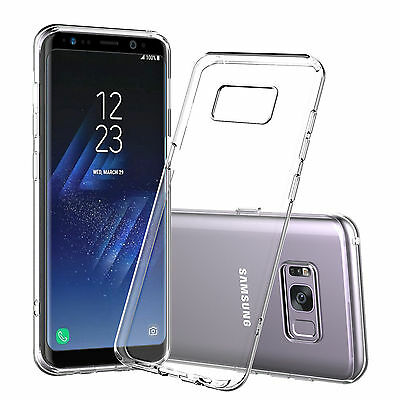 For Samsung Galaxy S8 Case Clear Hybrid Slim Shockproof Soft TPU Bumper Cover