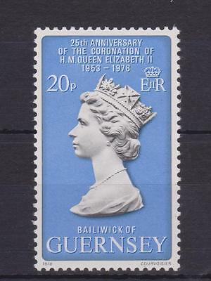 Guernsey 1978 25Th Anniversary Of The Coronation Stamp Set Mnh Sg 167