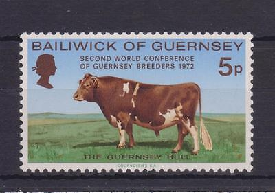 Guernsey 1972 World Conference Guernsey Breeders Stamp Mnh Sg 71