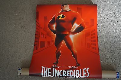 The Incredibles US Original Advance Movie Poster One-Sheet 24x70 DS Near Mint