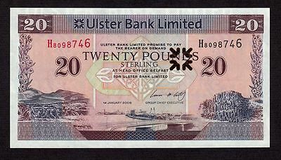 Northern Ireland 20 Pounds 2008 P-New * Unc *