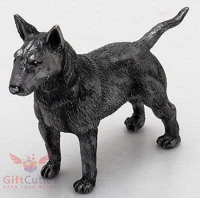 Tin Pewter Figurine of Pit Bull Terrier Dog IronWork