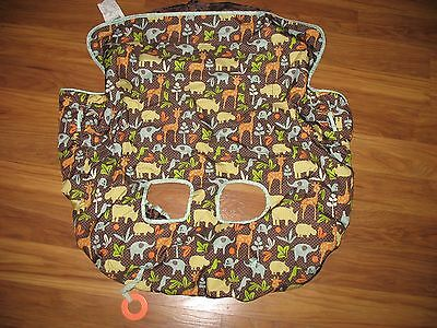 Infantino Shopping Grocery Cart & High Chair Cover - Brown Jungle Print