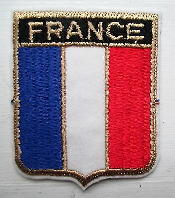 France Flag 2 3/4 X 2 1/2 Inch Embroidered Patch
