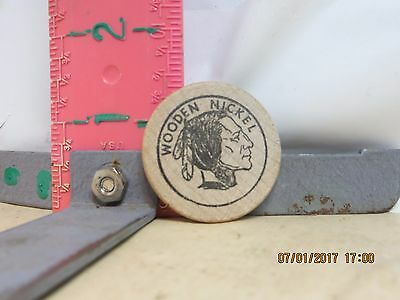 Indian Campground Wooden Nickel - Buffalo ,wyoming - No Damage!