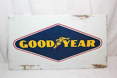 Vintage 1950's Goodyear Tires Tire Gas Station Oil Metal Sign