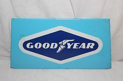 Vintage 1960's Goodyear Tires Tire Gas Station Oil Metal Sign~Nice