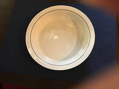 """Lenox Chinastone Blue Pinstripes For the Blue Patterns 9"""" Round Vegetable Bowl"""
