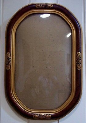 Pair of Matching Art Deco Picture Frames with Domed Glass , circa 1940's