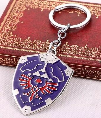 "The Legend of Zelda Link Hylian Shield 2"" Metal Keychain Triforce US Seller"