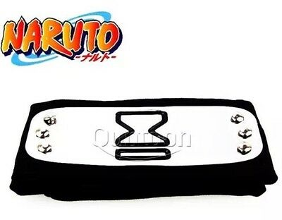 Naruto Sand Village Black Headband Cosplay Anime 37 Inches US Seller