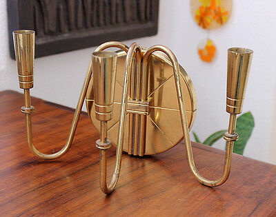 Mid Century Modern Tommi Parzinger Brass 3 Arm Wall Sconce 1950S Eames