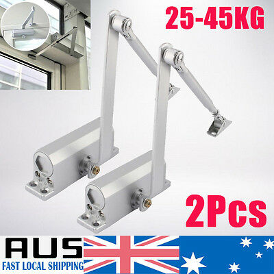 2x Adjustable Door Closer Fire Rated Auto Closing Surface Mounted 25~45KG HOT