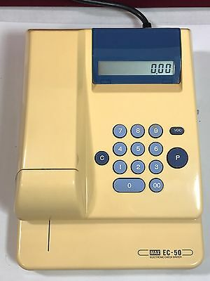 Max EC-50 Electronic Check Writer Protection-Cheques Electrique EC-50II