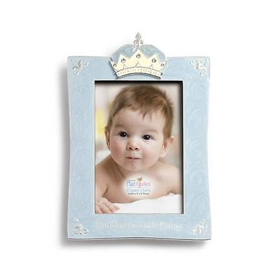 Nat & Jules Demdaco Blue Handsome Little Prince Picture Frame for 4x6 Photo