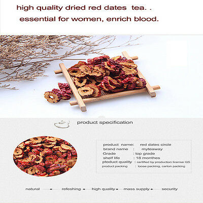 100g Big Dried fruit jujube high grade Chinese red dates Hong Zao Sliced Health