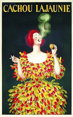 Paper Print Poster Vintage cachou French art deco advert   Canvas Framed