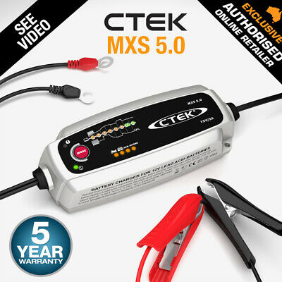 CTEK MXS 5.0 12V 5Amp Smart Battery Charger Car Boat 4WD Caravan Bike Marine AGM