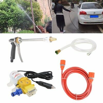 160PSI DC 12V 100W High Pressure Car Washer Cleaner Water Wash Pump Sprayer Kit
