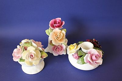 Vintage China , porcelain flower posies.
