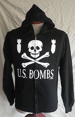 Rare Nos 2008 Us Bombs Zip-Up Hoodie Size Small Sweatshirt Punk Hardcore Kbd