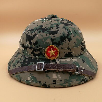 0efaf78eac054 NORTH VIETNAMESE ARMY Vietcong Pith Helmet with Red Star Badge ...
