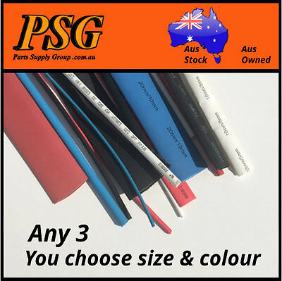 Heat Shrink 1.5mm 2.5mm 3.5mm 5mm 7mm 10mm 16mm 20mm YOU CHOOSE WHAT YOU WANT