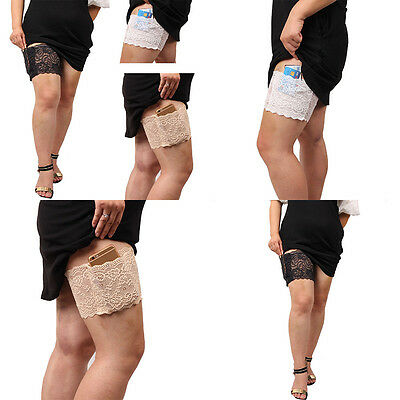 Anti-Chafing Thigh Bands with pocket Women Stylish Non Slip Lace Elastic Sock